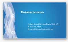 Here are four blue business card templates in Photoshop format that we found online. You may use it to design your own personal business cards.