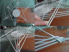 6 ágú csillag alakú tál készítése - Rika Papírkosarak