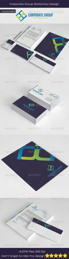 Corporate Group Stationary Design #GraphicRiver A Elegant Brand Design for Corporate Companies or any kind of Business. Customizable 100% CMYK AI – EPS Read Me File Included Font used : .dafont /bebas-neue.font Arial (system font) Letterhead (A4)with bleed Business card (3.5×2.5)(bleed & Trim line) Envelope (1/3 A4) Folder (31.5×24.5) CONTENT: 6 ADOBE ILLUSTRATOR FILES 6 ESP FILES AND PLEASE RATE THIS FILE AFTER DOWNLOAD IT'S VERY GOOD FOR ME Created: 14August13 GraphicsFilesIncluded…