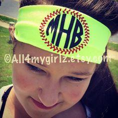 Personalized Monogram Stretch Headband Monogram Baseball Softball... ($7.50) ❤ liked on Polyvore featuring accessories, hair accessories, black, headbands & turbans, glitter stretch headbands, black turban headband, stretchy headbands, stretch headbands and sport headbands