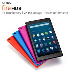 New release 2017 Fire HD 8 Tablet HD Display, 16 GB, Generation with Alexa ( Free Express Shipping) Amazon Fire Tablet, Amazon Kindle Fire, Amazon Official Site, Memoria Ram, Thing 1, Tech Gifts, Cloud Based, Control, Wi Fi