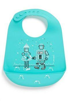Modern Twist 'Bucket Bib - Robot Love' Silicone Bib (Toddler) on shopstyle.com