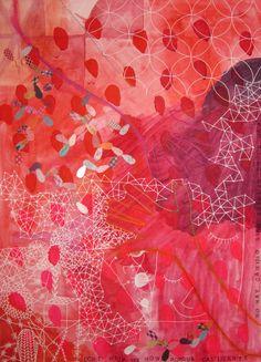 "La hermana Fieltrovitz; Watercolour, 2013, ""Pink abstraction"""