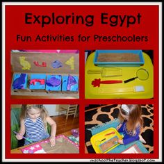 Unschool the Teacher: Ancient Egypt activities for preschoolers
