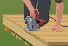 Trim deck straight line - Build Ground-Level Deck