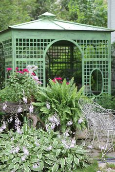 A smaller version could house trash/AC units/pool equipment, an open-fronted version could serve as a shade structure. I want to incorporate uniform use of treillage throughout garden where embellishment is required. Pagoda Garden, Garden Gazebo, Garden Beds, Garden Trellis, Deck With Pergola, Backyard Pergola, Backyard Landscaping, Cheap Pergola, Pergola Kits