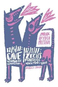 GigPosters.com - Babar - New Fumes - Diarrhea Planet - Diamond Age - Zechs Marquise - Cave