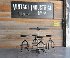 Louie bar table in stock, and on sale today, by Vintage Industrial in Phoenix...