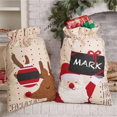Christmas Canvas Customizable Gift Sacks | Time Your Gift...