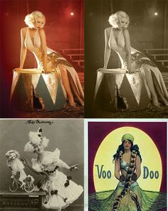 Vintage Circus Wedding - seating themes of circus acts (small vintage photo)