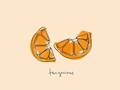 Minimalist art 455919162281406161 - Shout out to fabulous Kate Moore for the draft. In honor of her ginger hair, here are some color-coordinating tangerines! Thank you, Kate! Art Inspo, Kunst Inspo, Inspiration Art, Art And Illustration, Illustration Design Graphique, Illustrations, Botanical Illustration, Watercolor Illustration, Art Sketches