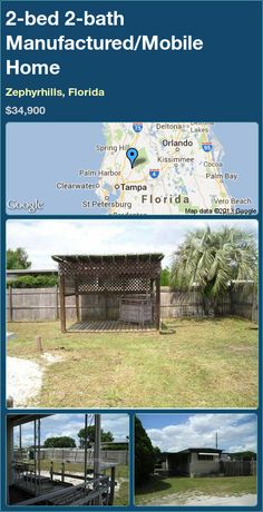 2 Bed Bath Manufactured Mobile Home In Zephyrhills Florida 42000 PropertyForSale RealEstate Magic Properties 82