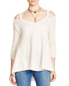 Free People Moonshine Cold Shoulder Sweater   Bloomingdale's