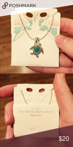 """🆕🎄🎁 Sea Turtle Necklace Blue 18"""" Chain NWT Brand new with tags! boutique Jewelry Necklaces"""