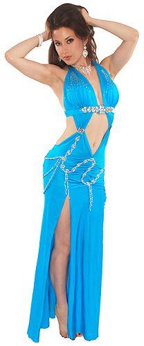 Modern Egyptian Belly Dance Dress - TURQUOISE