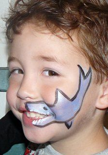 sharkie face painting