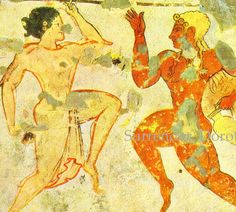 An example of Etruscan artwork in which the style is very similar to Greek artworks.