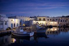 Magical Naoussa by night island of Paros (Πάρος)