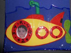 Invitación cumpleaños submarino. Submarine Birthday Party - Inma Torrijos