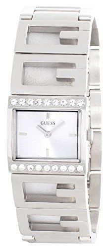 GUESS Womens Silver Dial Stainless Steel Bracelet Watch W10235L1 *** You can get more details by clicking on the image.