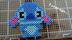 How to make Disney's Stitch out of Perler Beads Easy Perler Bead Patterns, Melty Bead Patterns, Perler Bead Templates, Diy Perler Beads, Perler Bead Art, Beading Patterns, Hama Beads Disney, Hama Disney, Disney Hama Beads Pattern
