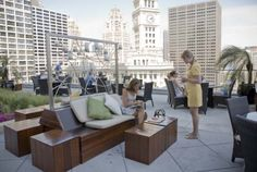 summertime-- best rooftop bars in Chicago