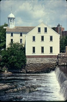 Slater Mill Historical Site Along Blackstone River, Pawtucket, Rhode Island