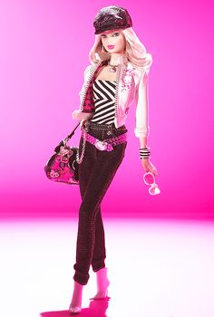 Hello Kitty Barbie Doll- So cute! I love her hat and her purse!