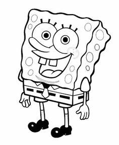 Happy Spongebob coloring pages Spongebob Tattoo, Spongebob Drawings, Easy Cartoon Drawings, Cartoon Tattoos, Cool Art Drawings, Disney Drawings, Easy Drawings, Drawing Sketches, Spongebob Coloring