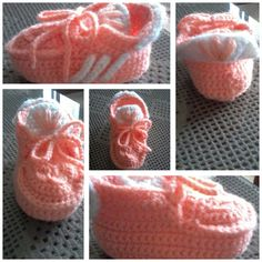 crochet  baby sneakers adida's