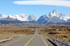 Argentina. The road to the legendary Fitz Roy in Patagonia