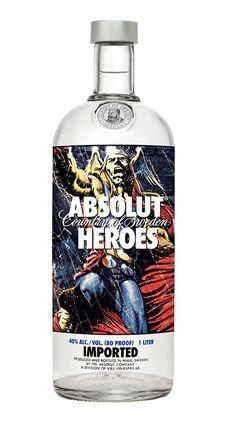"Absolut Vodka ""Heroes"" Bottles"