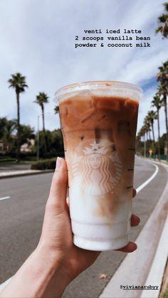 Starbucks Secret Menu Drinks, Starbucks Coffee, Healthy Starbucks Drinks, Yummy Drinks, Coffee Drink Recipes, Coffee Drinks, Coffee Milkshake, Caffeine, Cheers