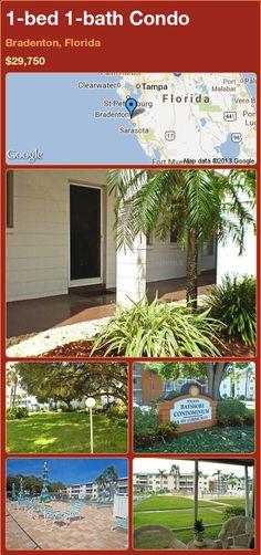 1-bed 1-bath Condo in Bradenton, Florida ►$29,750 #PropertyForSale #RealEstate #Florida http://florida-magic.com/properties/22922-condo-for-sale-in-bradenton-florida-with-1-bedroom-1-bathroom