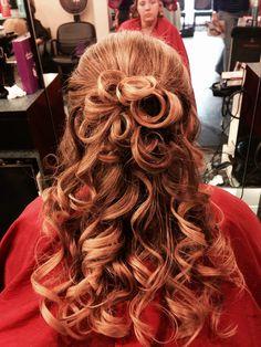 Prom, wedding  hair half up do style