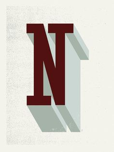 Letter N by Methane Studios, on Etsy. #poster #letter #typography