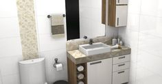 banheiro sob medida pequeno 3 | ideias | Pinterest | Chang'e 3
