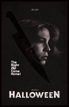 Halloween by Keith Ten Eyck Halloween Film, Halloween 2018, Best Movie Posters, Jamie Lee Curtis, Movie Tv, Horror, Tv Shows, Cinema, Night