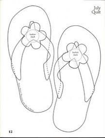 Flip Flop shoe pattern