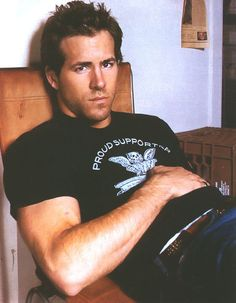 Ryan Reynolds and his puppy eyes.