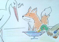 La volpe e la cicogna, favola di #Esopo From Glob-Arts