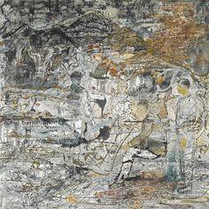 thunderstruck9:  Jayashree Chakravarty (Indian, b. 1956), Untitled, 2003. Acrylic and oil on canvas, 177.2 x 176.5 cm.