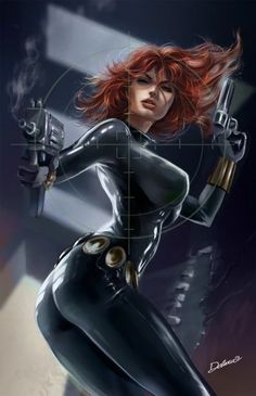 Natasha Romanova had a variety of different Black Widow costumes. Yelena Belova and Monica Chang have added their own outfits to the Black Widow costume history over the years. Marvel Comics, Bd Comics, Comics Girls, Marvel Heroes, Marvel Avengers, Comic Book Characters, Comic Book Heroes, Marvel Characters, Comic Character