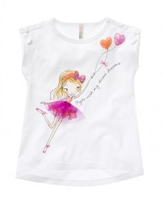 T-shirt with bows white Benetton