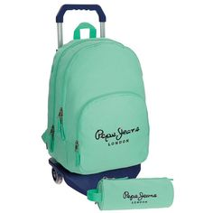 Pepe Jeans Harlow Mochilas Escolares, 42 cm, 19.44 litros, Verde: Amazon.es: Equipaje Jean Harlow, Fashion Backpack, Backpacks, Gifts, Bags, School Backpacks, Baggage, Blue Nails, Green