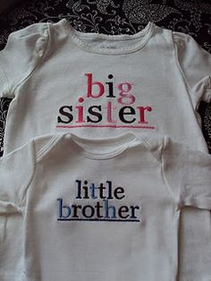Love the Big Sister/Little Brother shirts!
