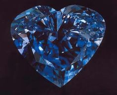 The Heart of Eternity Diamond is one of the most famous diamonds of the world. A Blue African diamond mined in South Africa. The size of the gem is carats and it is described as fancy vivid blue diamond. 4 Diamonds, Colored Diamonds, Diamond Mines, Rocks And Gems, Diamond Gemstone, Diamond Heart, Blue Diamond Jewelry, Hope Diamond, Rocks And Minerals