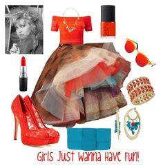 """Girls Just Wanna Have Fun!"" by laineys on Polyvore featuring Vivienne Westwood, Miss Selfridge, Dolce&Gabbana, Gucci, Sam Edelman, Thalia Sodi, Leghilà, AQS by Aquaswiss, MAC Cosmetics and NARS Cosmetics"