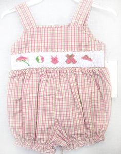 412289 - I138 - Baby Sunsuit - Baby Girl Sunsuit - Baby Clothes -  Beach Clothing - Sun Dress - Baby Sun Dress - Baby Girl Clothes - Smocked