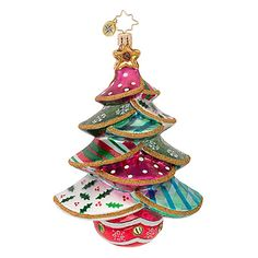 The Christopher Radko Stitched-Up Spruce Ornament is part of the 2013 Christmas Tree Collection of Radko Ornaments.